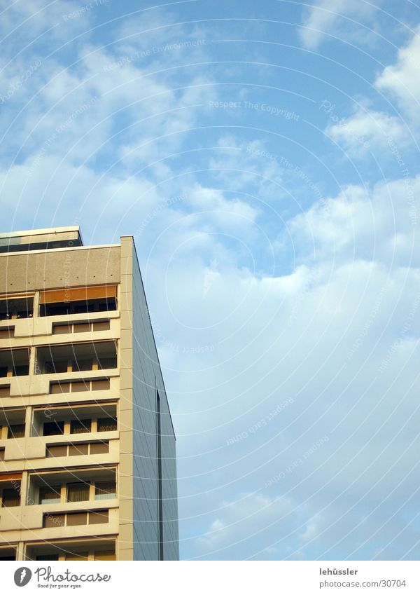 Sky White Blue Clouds Building Architecture East Prefab construction