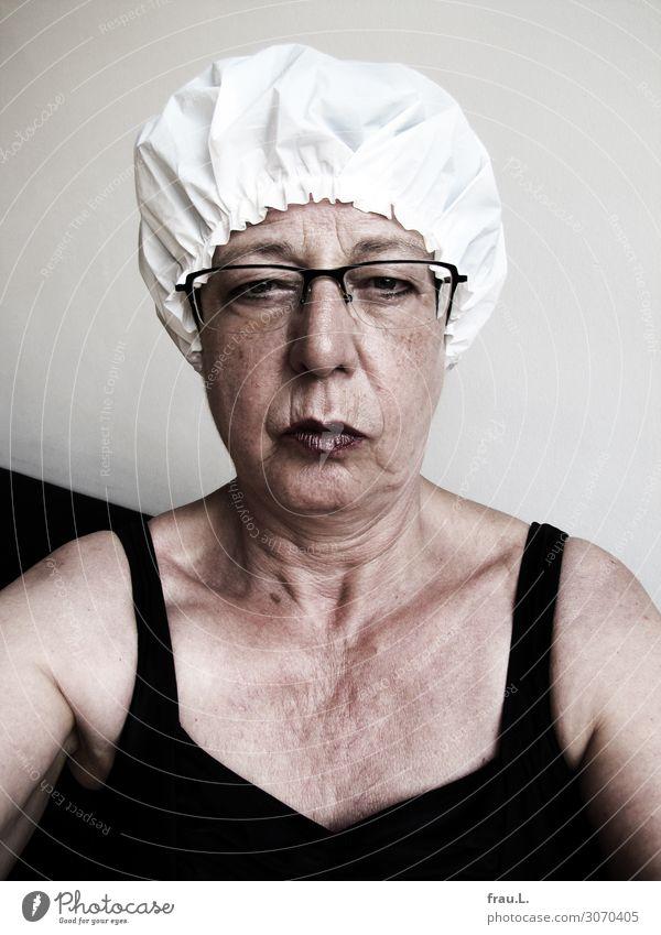 bugged Style pretty Personal hygiene Wellness Sauna Steam bath Swimming & Bathing Human being Feminine Woman Adults Female senior Face 1 60 years and older