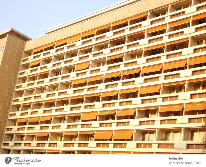 Sky Building Orange Architecture Concrete Balcony Grid Prefab construction