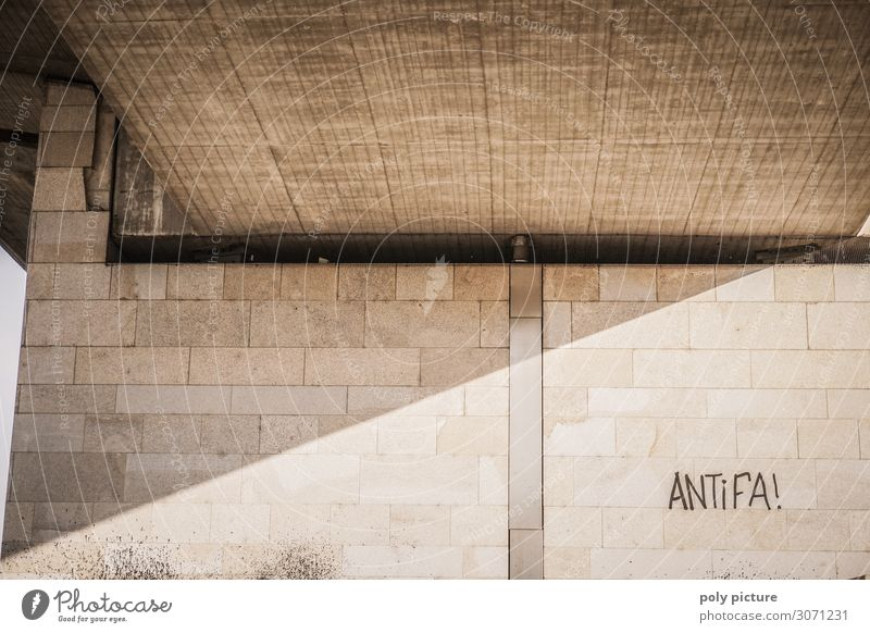 """Antifa"" graffiti on a wall in Dresden Park Deserted Bridge Aggression Senior citizen Identity Crisis Future Anti-fascism Wall (building) Graffiti Resist"