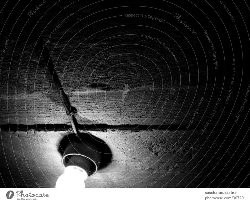 White Black Lamp Dark Gray Technology Cellar Gray scale value Masonry Electrical equipment