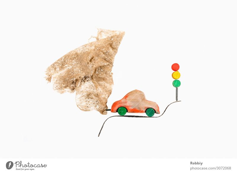 TrashArt I - Exhaust gas Environment Means of transport Motoring Traffic light Car Climate Climate change Climate protection Emission Transport Plastic waste