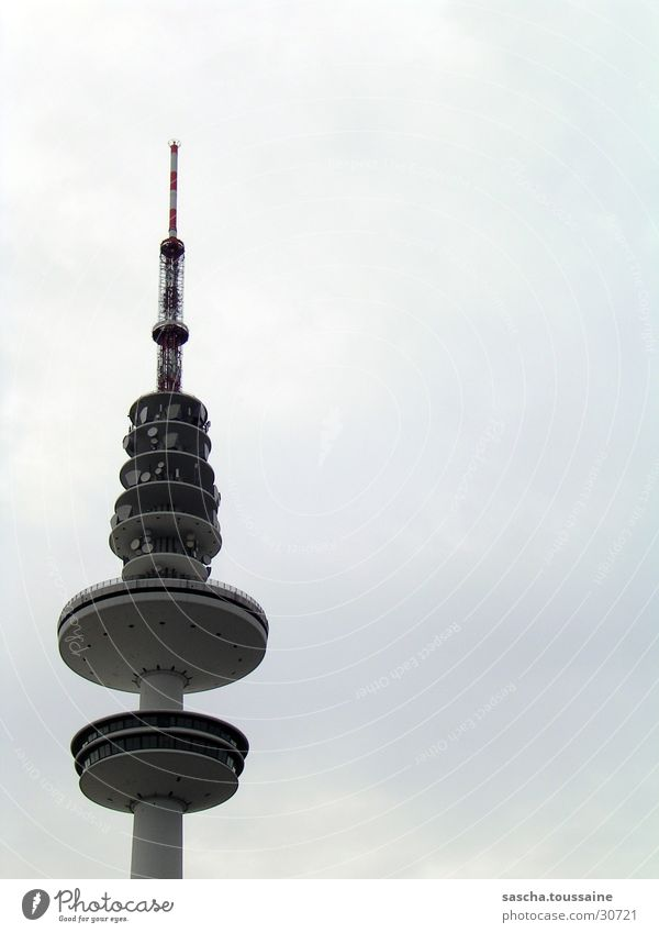Clouds Line Television Tower Television tower Bad weather Transmit Broacaster Broadcasting tower