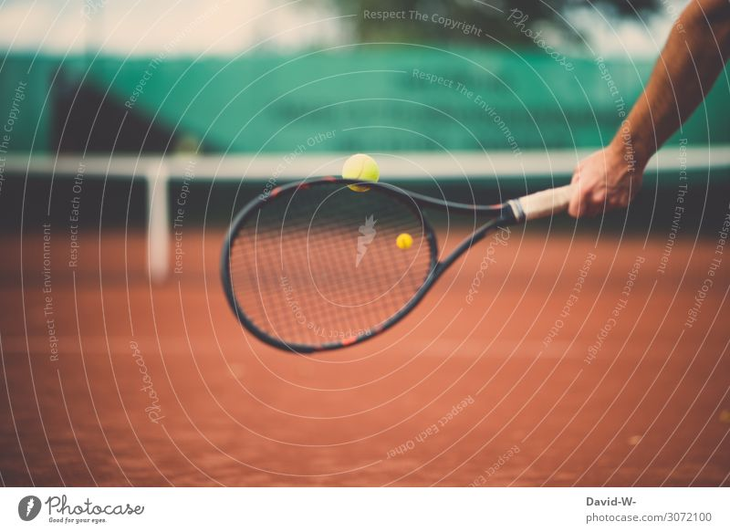 Man hits a tennis ball on a tennis court with a tennis racket Tennis Tennis player Tennis court Tennis ball Net Sports Athletic Sports Training Sportsperson