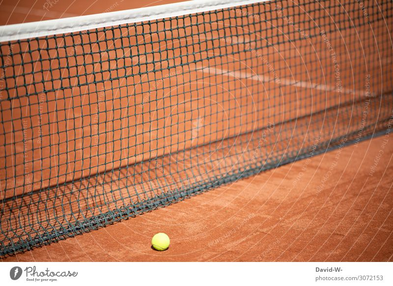 Tennis - the game is over Net Tennis ball Tennis court from End Game over Closed Sports Sporting event out Doomed Tennis tournament Deserted Ball sports