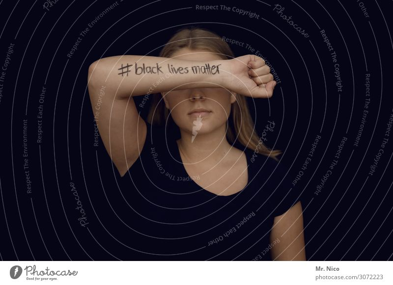 # black lives matter Feminine Young woman Youth (Young adults) Skin 1 Human being Long-haired Black Underarm Fist Racism Unidentified Power Willpower Brave Fear