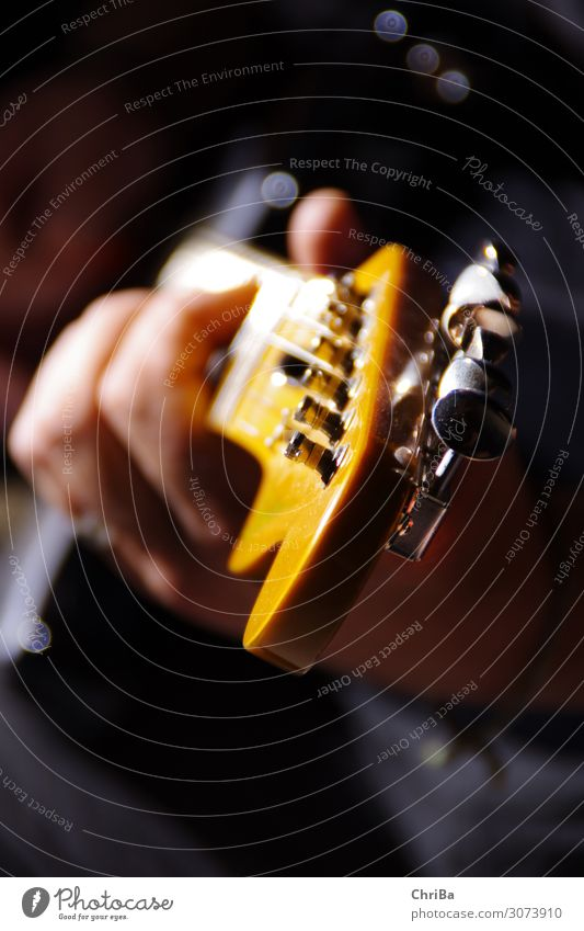 guitar Make music Music Hand 1 Human being Concert Stage Band Musician Guitar Guitar neck Guitarist Listening Playing Glittering Hip & trendy Orange Emotions