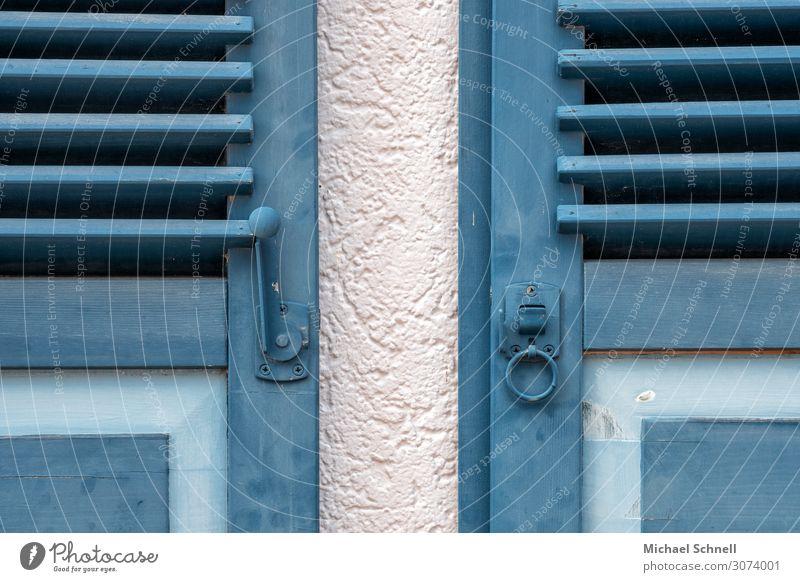 double shutters Shiltach Town House (Residential Structure) Window Esthetic Authentic Friendliness Blue Contentment Culture 2 Symmetry Colour photo