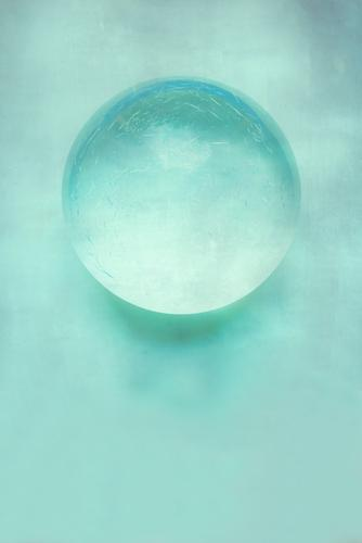 glass ball on pastel tone background Blue Colour Beautiful White Relaxation Healthy Life Cold Art Lamp Swimming & Bathing Flying Design Bright Retro Glass