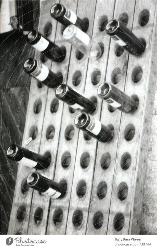 White Black Wine Obscure Bottle Shelves Pillar