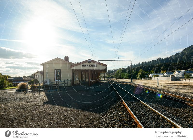 Ohakune Rail Station Vacation & Travel Trip Adventure Far-off places New Zealand Village Train station Manmade structures Building Architecture