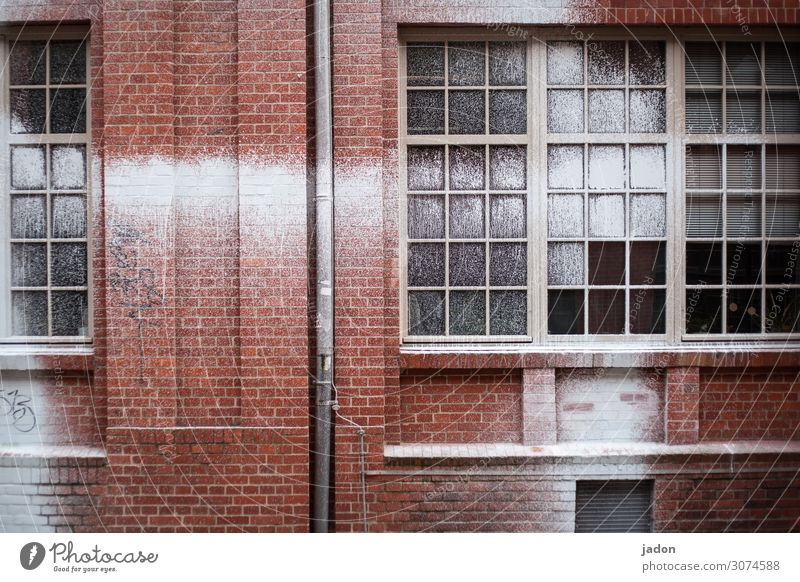 facade. Painter Youth culture Industrial plant Manmade structures Building Wall (barrier) Wall (building) Facade Window Eaves Brick Ornament Graffiti Stripe