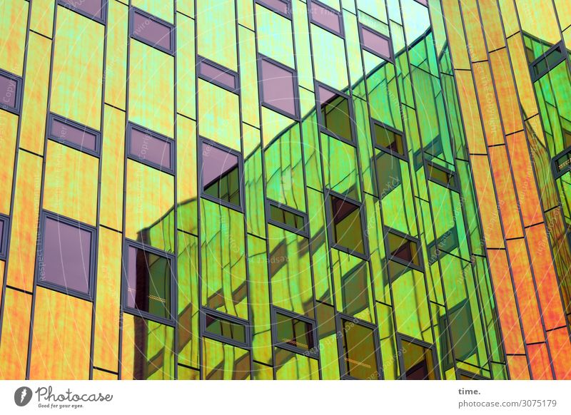 Town House (Residential Structure) Architecture Building Facade Line High-rise Glass Creativity Idea Stripe Manmade structures Network Inspiration Irritation