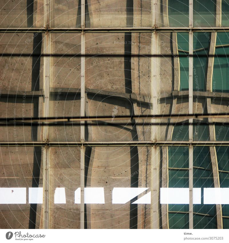 hot flush Berlin House (Residential Structure) Architecture Wall (barrier) Wall (building) Facade Window Stone Glass Metal Line Stripe Exceptional Sharp-edged