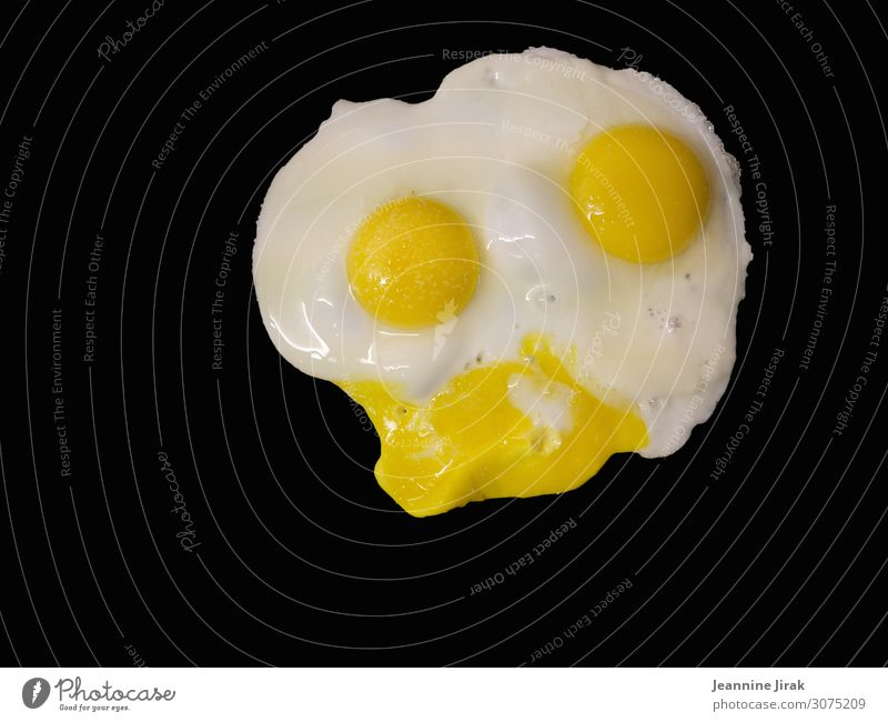 The Donald Duck among the egg dishes Food Egg Organic produce Healthy Eating Fitness Animal face Barn fowl Sustainability Fried egg sunny-side up Twin Faceless