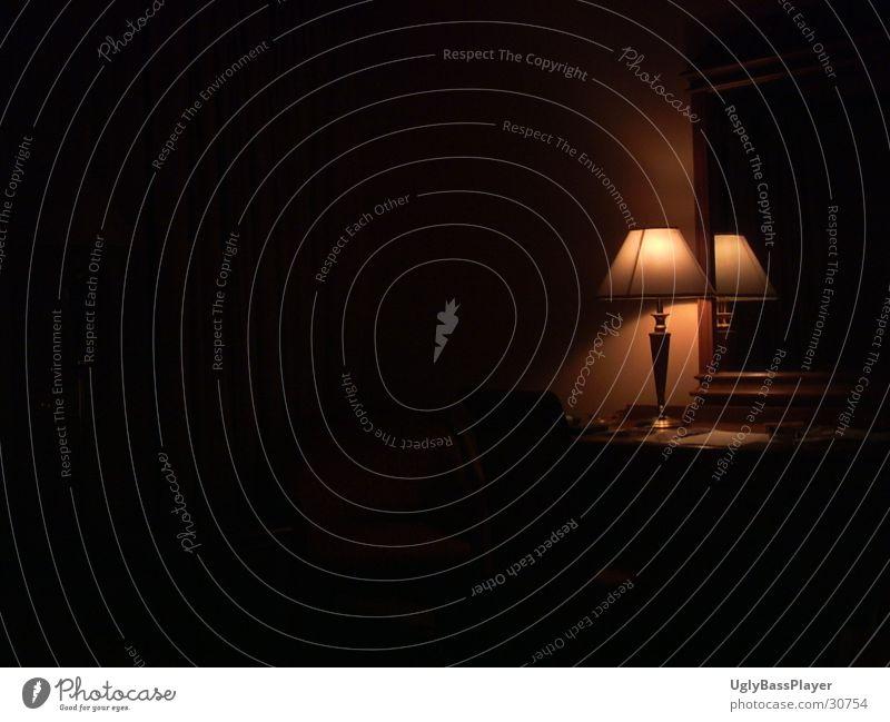 lonely lamp Lamp Dark Black Living or residing Contrast Umbrella Shadow