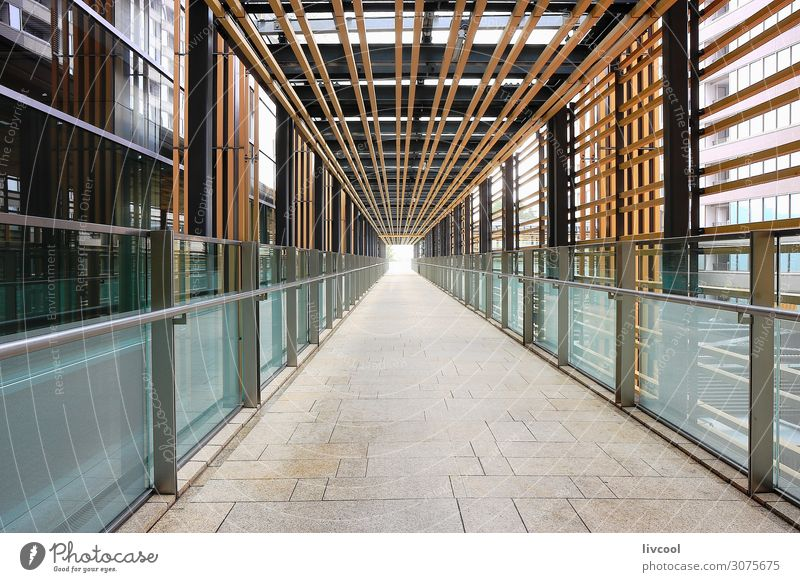Gallery between buildings Small Town Capital city High-rise Building Architecture Authentic Exceptional Cool (slang) Beautiful Uniqueness Modern New Cute