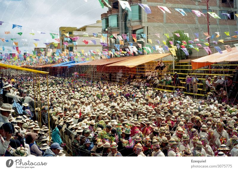 Celebration in Oruro's Carnival Joy Vacation & Travel Tourism Trip Feasts & Celebrations Fairs & Carnivals Human being Life Crowd of people Art Culture Event