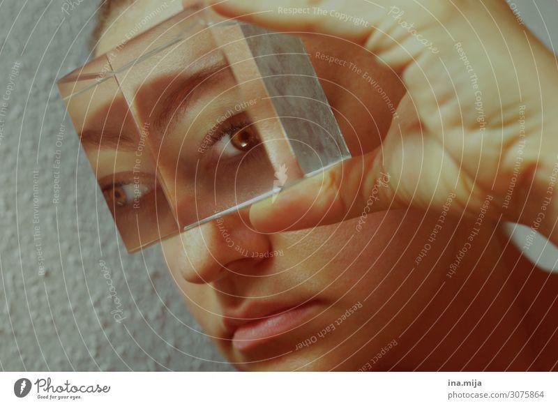 Human being Eyes Feminine Vantage point Future Observe Threat Snapshot Senses Phenomenon Opthalmology Eye colour Eyewitness