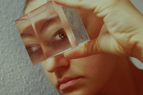 Perspective II Human being Feminine Observe Threat Senses Future Phenomenon Eyewitness Snapshot Eyes Vantage point Opthalmology Eye colour Colour photo