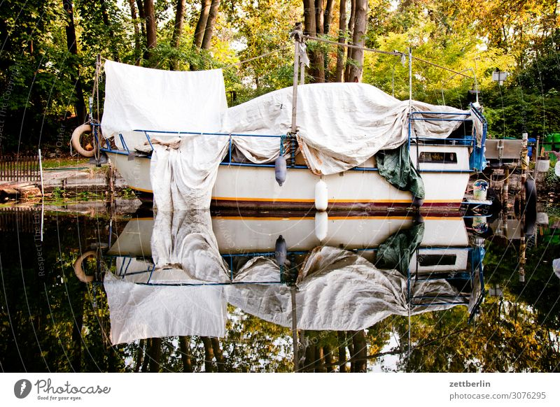 Vacation & Travel Water Berlin Watercraft Protection Harbour Navigation Jetty Storage Channel Sailboat Aquatics Hiding place Mirror image Brandenburg