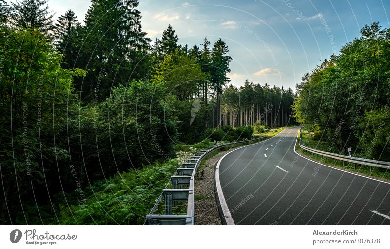 Long Curvy Forest Road In Alpine Mountains Vacation & Travel Summer Nature Park Highway Motorcycle Adventure Freedom Leisure and hobbies Tourism mountains curvy