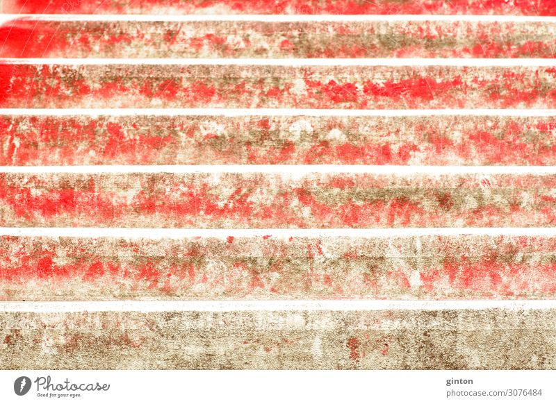 Red steps Architecture Stairs Sharp-edged sloping staircase inclined staircase stagger red steps architectural detail Surface concrete surface Colour red color
