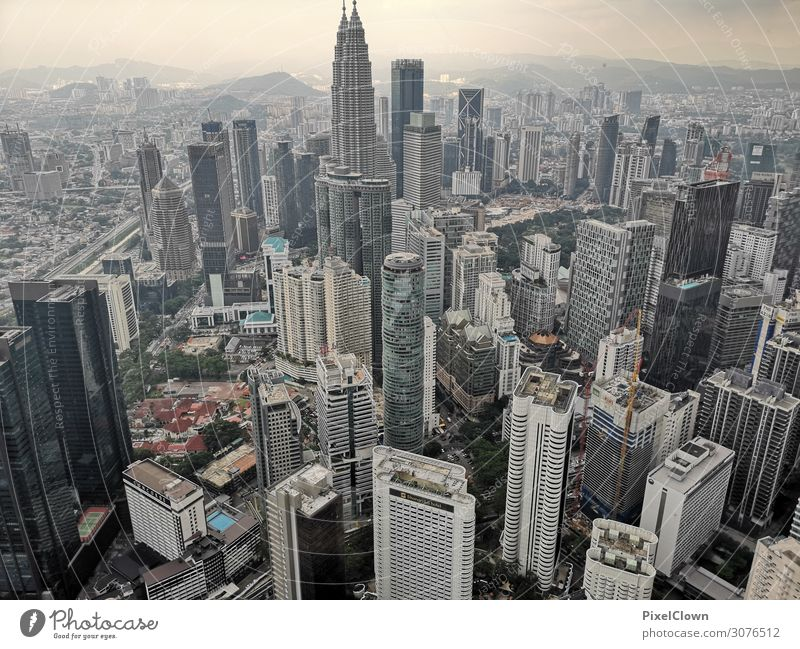Kuala Lumpur Lifestyle Vacation & Travel Tourism Adventure Far-off places Sightseeing City trip Town Skyline High-rise Tower Building Architecture