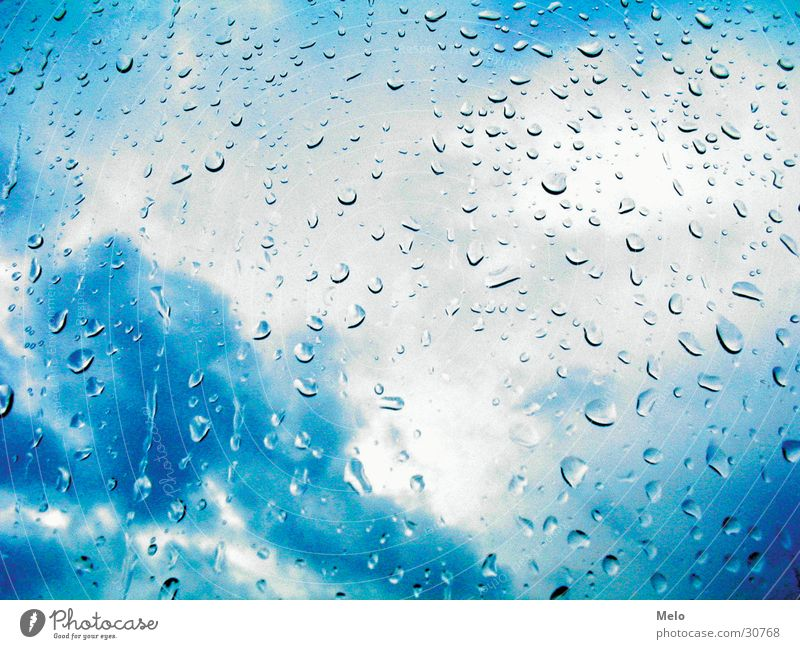 it's raining again Window Clouds Bad weather Rain Drops of water Vantage point