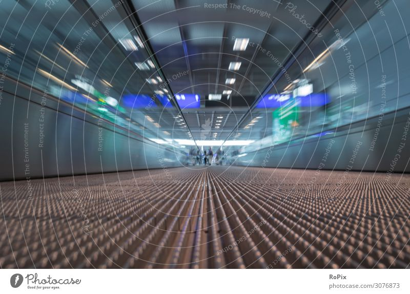 Moving walkway in an airport. Design Vacation & Travel Tourism Work and employment Profession Workplace Economy Industry Trade Business Work of art Architecture