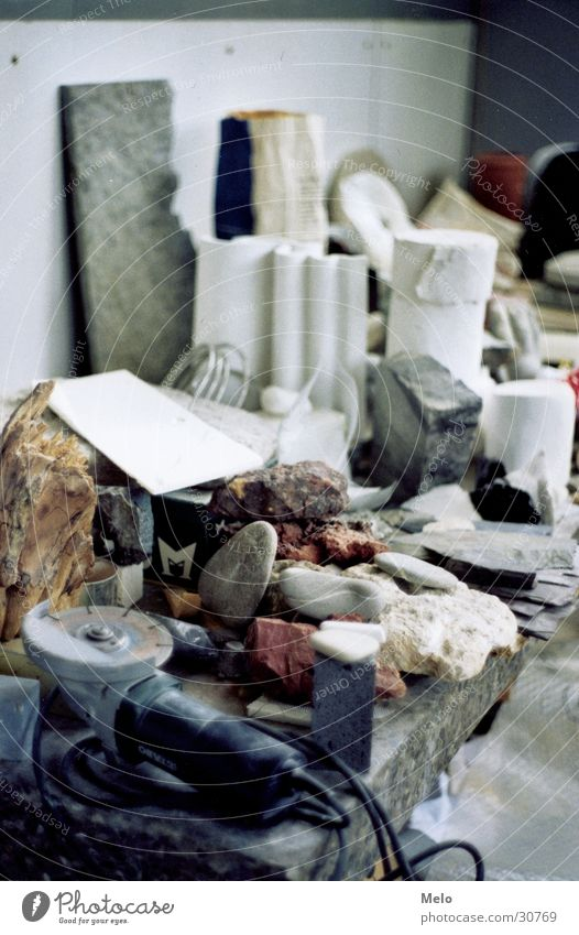 Stone Table Leisure and hobbies Tool Material Atelier Sculpture