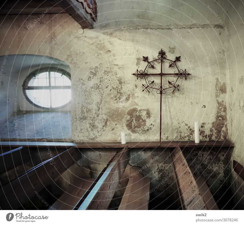 Old Window Wall (building) Germany Wall (barrier) Historic Candle Tourist Attraction Manmade structures Christian cross Saxony Rough Crucifix Protestantism