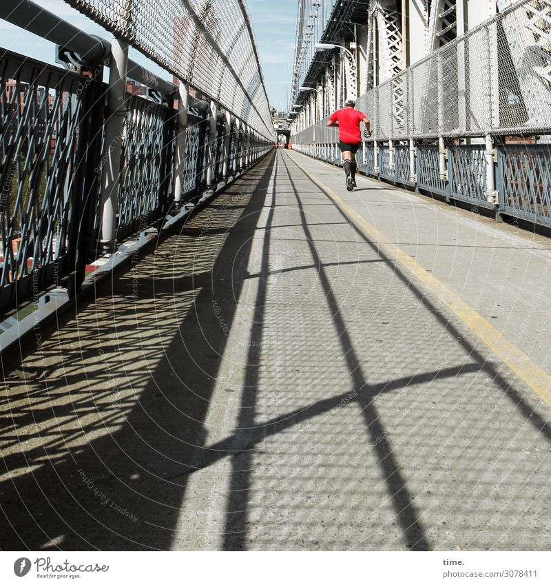 Bridge running | on the road again Sports Fitness Sports Training Running sports Jogging Jogger Masculine Man Adults 1 Human being New York City
