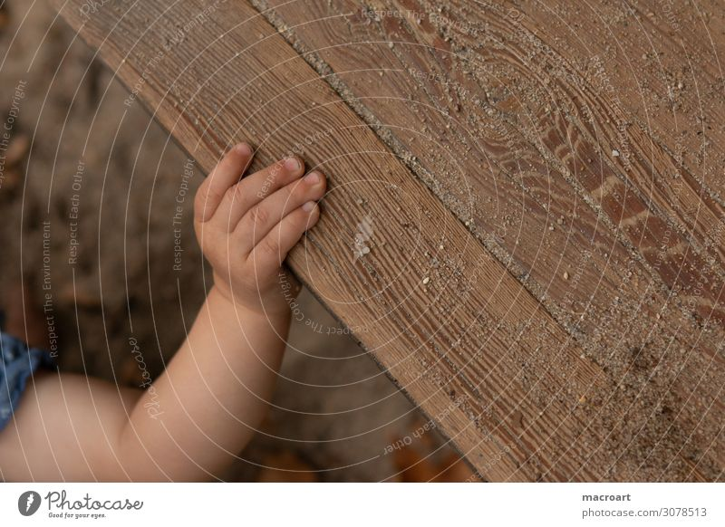 grasp Children`s hand Hand Fingers Grasp To hold on Comprehend Mobility Discover Close-up Childlike Crawl Walking Going Ground Dirty Clean Baby