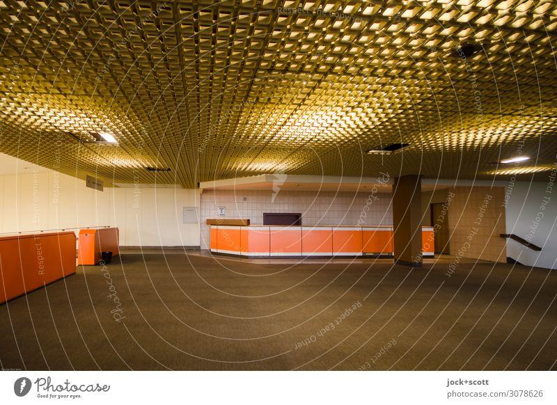 Lobby Calm Far-off places Style Brown Moody Retro Foyer Airport Berlin-Tempelhof