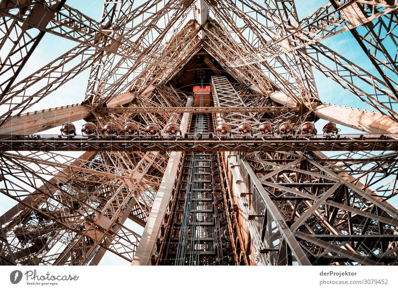 Eiffel Tower in Paris Vacation & Travel Tourism Trip Adventure Far-off places Freedom Sightseeing City trip Capital city Manmade structures Building