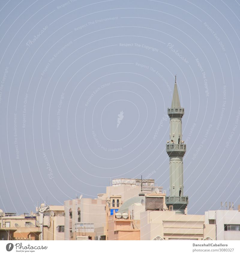 oriental skyline... Small Town Populated House (Residential Structure) Tower Minaret Mosque Vacation & Travel Religion and faith Dubai Near and Middle East