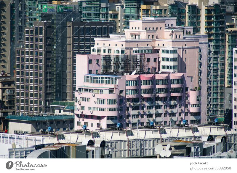 Function meets aesthetics Downtown High-rise Office building Facade Uniqueness Modern Many Style Growth Luxury Quarter Functionalism Difference