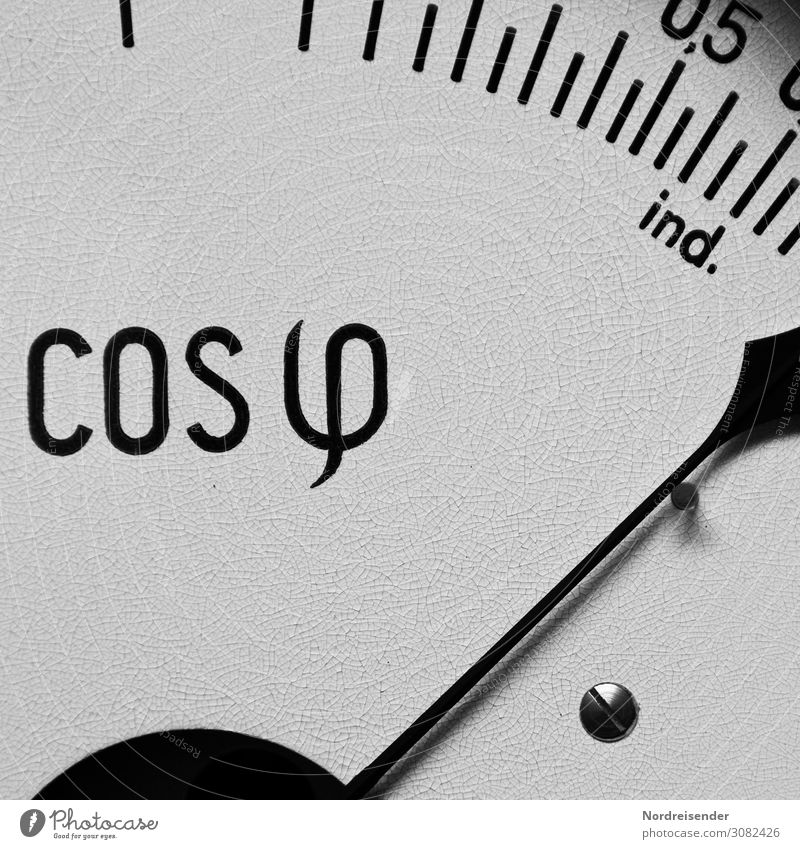 cosine phi Science & Research Energy industry Measuring instrument Technology Renewable energy Solar Power Energy crisis Old Accuracy Complex Precision Scale