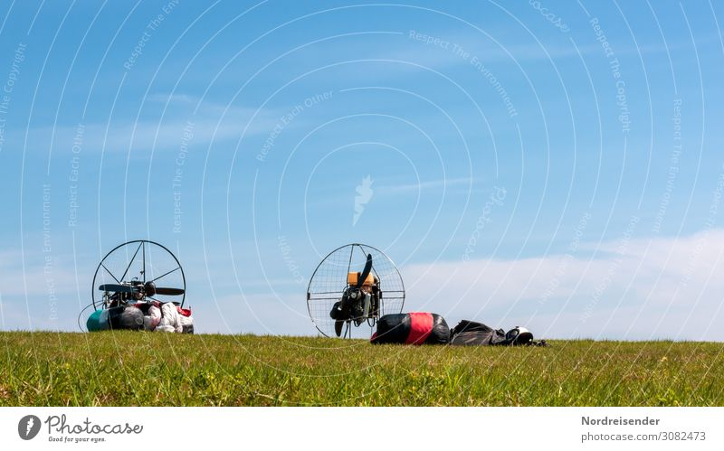 paraglider Leisure and hobbies Freedom Sports Machinery Engines Technology High-tech Aviation Nature Landscape Air Sky Spring Summer Autumn Beautiful weather