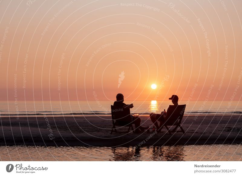 Human being Vacation & Travel Man Summer Water Landscape Sun Ocean Relaxation Beach Lifestyle Adults Tourism Orange Friendship Contentment