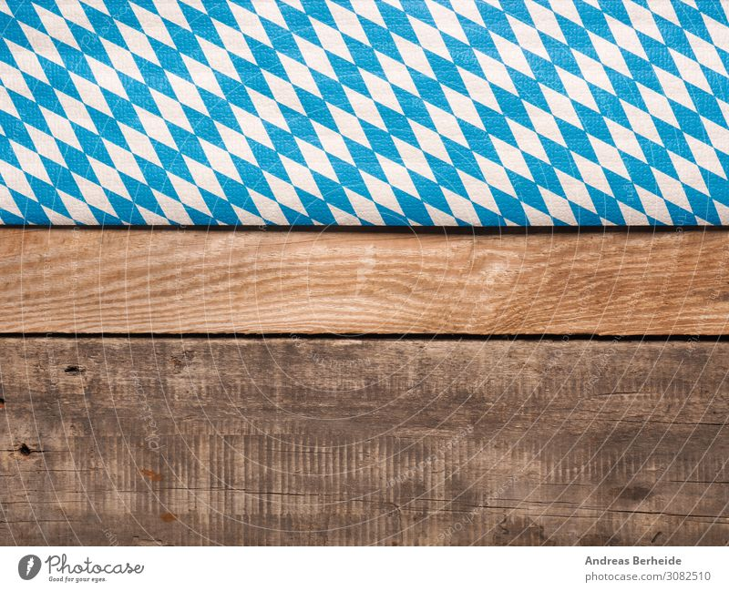 diamond pattern Table Restaurant Oktoberfest Wood Flag Blue Brown White panoramic Beer garden october Bavaria traditional Munich bavarian Germany Party festival