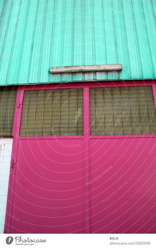 stained glass House (Residential Structure) Goal Manmade structures Building Architecture Wall (barrier) Wall (building) Facade Window Old Kitsch Retro Crazy