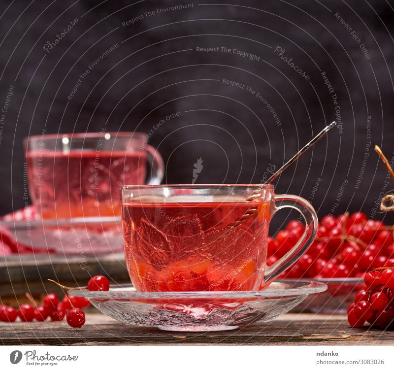 viburnum tea in cup Fruit Beverage Hot drink Tea Spoon Table Nature Autumn Wood Fresh Natural Red Black Tradition antioxidant Aromatic background Berries