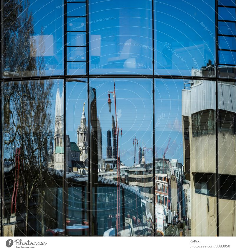 Reflections in London. Sky Vacation & Travel Town Landscape House (Residential Structure) Architecture Lifestyle Environment Style Business Tourism