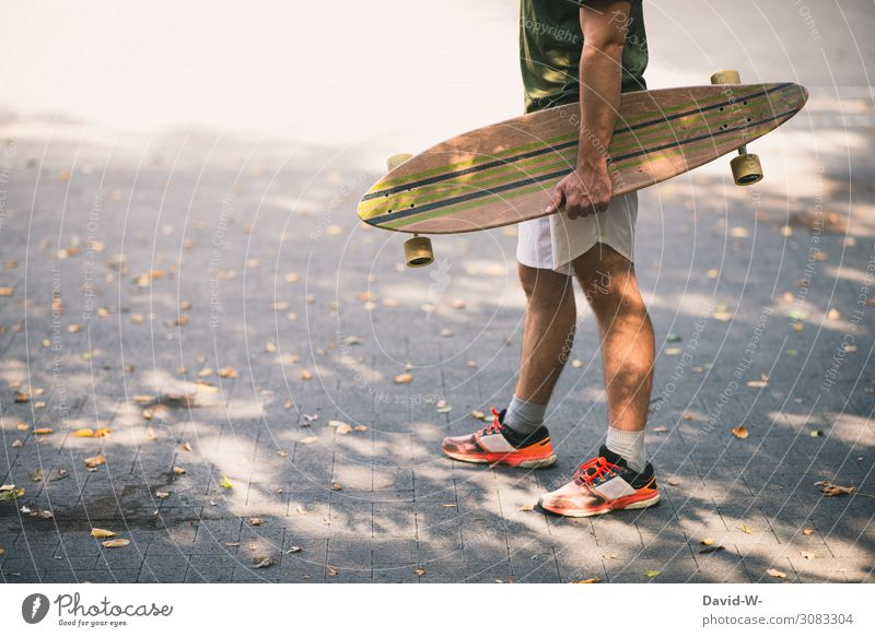 longboard Lifestyle Elegant Style Joy Contentment Leisure and hobbies Sports Sportsperson Human being Masculine Young man Youth (Young adults) Man Adults 1