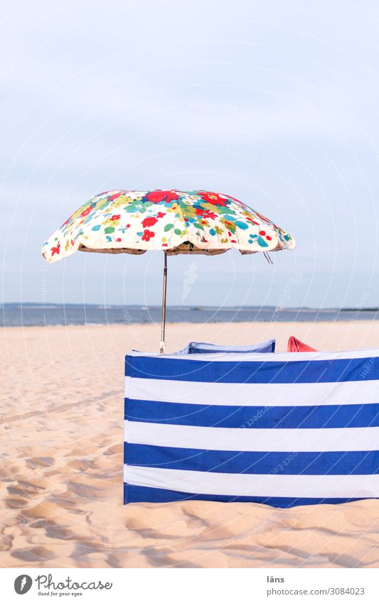 Ocean Beach Baltic Sea Sunshade Striped Floral