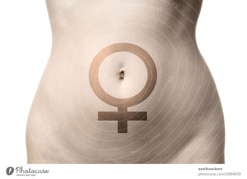 belly of a woman with Venus symbol Beautiful Healthy Health care Human being Feminine Young woman Youth (Young adults) Woman Adults Body Stomach 1 18 - 30 years
