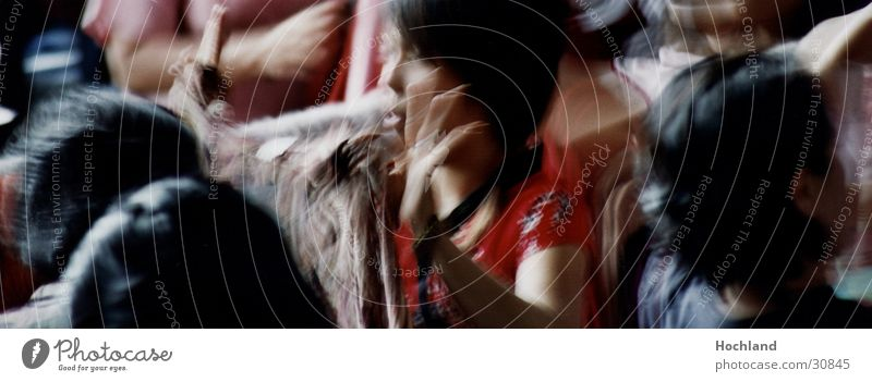 Thailand 2005 II Young woman Asia Multicoloured Fingers Black-haired Group Markets red blouse Blur
