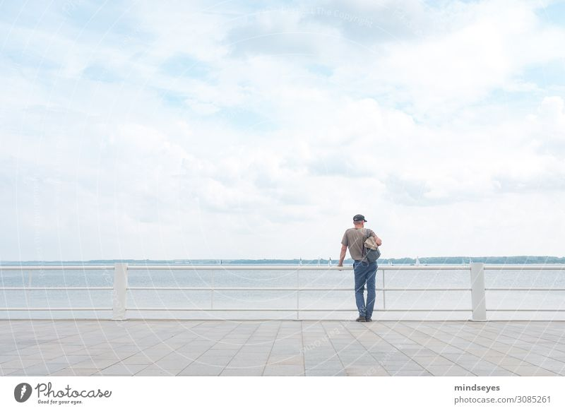 Man by the sea Relaxation Calm Vacation & Travel Ocean Observe Dream Free Fresh Infinity Maritime Contentment Attentive Serene Wanderlust Sea promenade